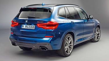 New BMW X3 - rear