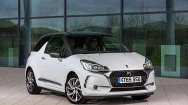DS 3 hatchback 2016 review - front quarter