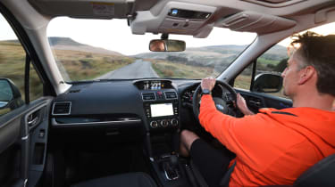 Subaru Forester driving interior