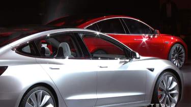 Tesla Model 3 presentation cars