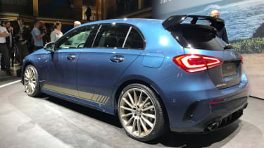 Mercedes-AMG A 35 rear blue