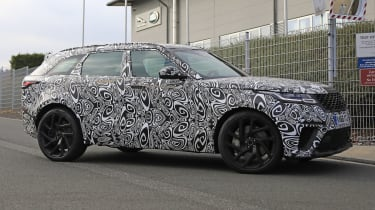 range rover velar svr spies side