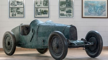 The final 'car' to feature in this gallery is a 1:1 scale sculpture of the iconic Bugatti Type 35 racing car.