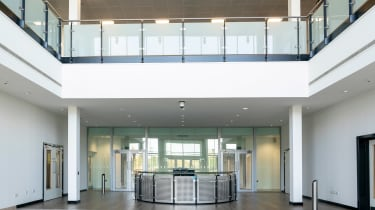 Aston Martin St Athan factory - reception