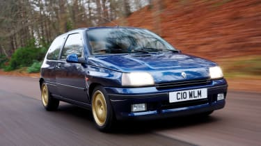 Not only did it handle supremely well, the 148bhp Clio Williams certainly looked the part with an aggressive wider track and gold-coloured Speedline alloys. Very '90s…