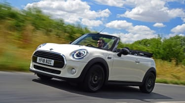 Mini Cooper Convertible Moving Front