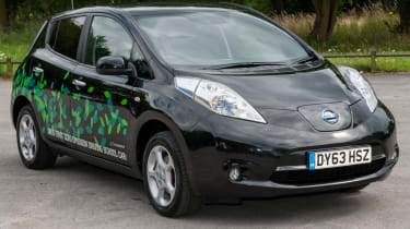 EV driving school - Nissan Leaf - front
