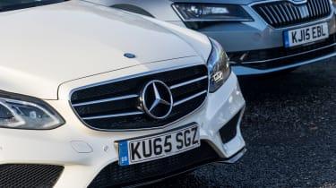 Mercedes E-Class vs Skoda Superb - detail