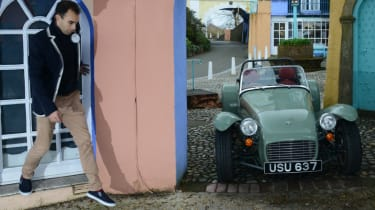 Caterham Seven road trip - parked