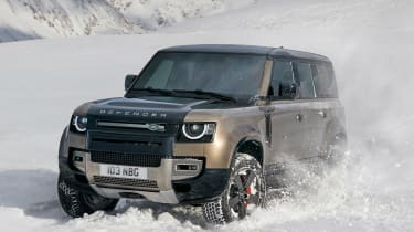 2019 Land Rover Defender in snow
