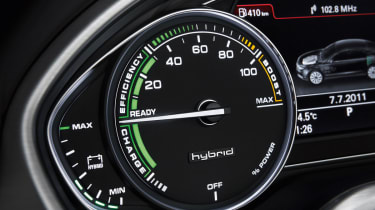 Audi A8 Hybrid dials