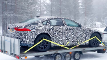 Jaguar XJ electric - spied - rear 3/4 static