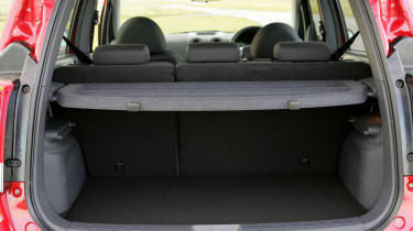 The boot space isn't particularly big at 160-litres and will expand to 568-litres with the seats folded down.
