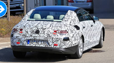 2018 mercedes cls spy shot rear