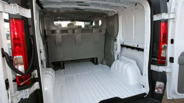 The load space is between 5.0 cubic metres and 8.4 cubic metres dependant on what wheelbase and bodystyle you choose.