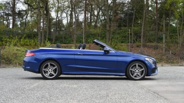 Mercedes C-Class Cabriolet - roof open