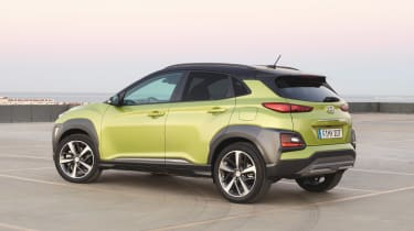 Hyundai Kona - green rear static