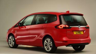 Vauxhall Zafira Tourer - studio rear
