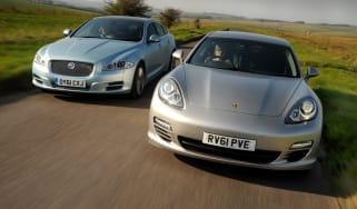 Porsche Panamera diesel vs Jaguar XJ
