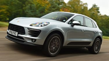 Porsche Macan S - front tracking