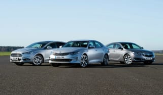 Kia Optima vs Ford Mondeo vs Vauxhall Insignia - header