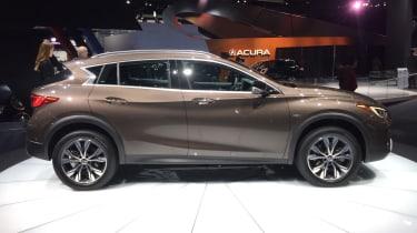 Infiniti QX30 SUV LA Show side profile