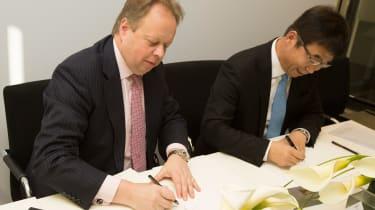 Aston Martin and LeEco partnership - signing