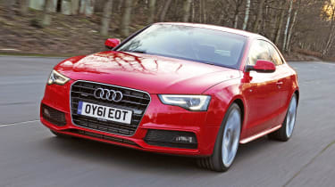 Audi A5 2.0 TFSI Coupe front tracking