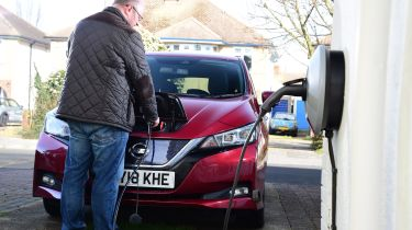 Nissan Leaf - Long termer plugging in