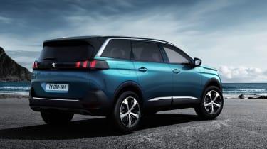 New Peugeot 5008 2016 - blue rear quarter