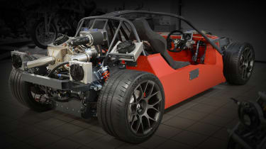 Ariel Hipercar chassis and tech rear