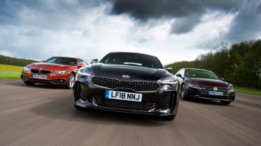 Kia Stinger vs Volkswagen Arteon vs BMW 4 Series - header