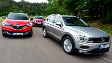 VW Tiguan vs Renault Kadjar vs Nissan Qashqai - group