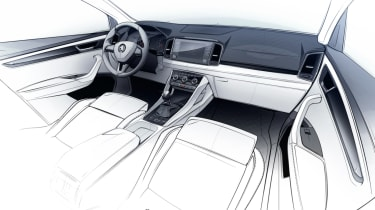 Skoda Karoq interior sketch