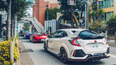 Honda Civic Type R and NSX rears