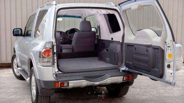 Mitsubishi 4Work SWB rear door open with cargo bed