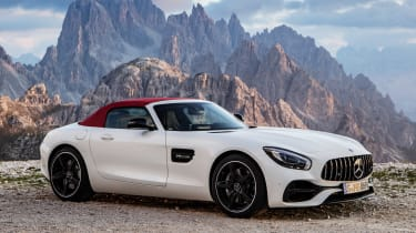 Mercedes-AMG GT C Roadster - white roof up