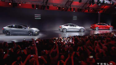 Tesla Model 3 presentation cars