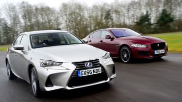 Lexus IS vs Jaguar XE - header