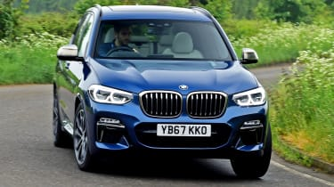 BMW X3 M40i - front cornering