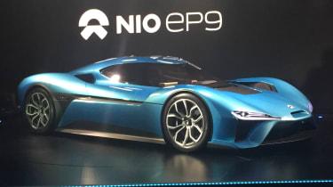 NextEV NIO EP9 electric hypercar  - front reveal