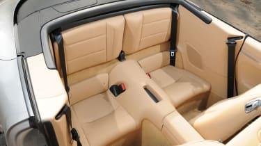 Porsche 911 Carrera S Cabriolet rear seats
