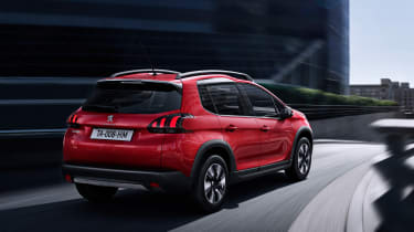 Peugeot 2008 2016 - rear tracking