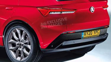 Skoda Vision E - rear detail (watermarked)