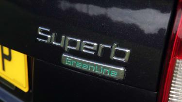 Used Skoda Superb boot badge