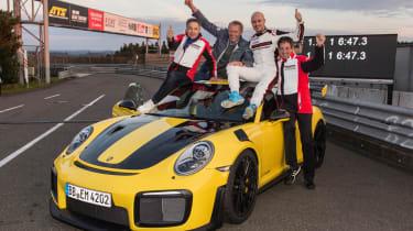Porsche 911 GT2 RS Nurburgring record - celebrating