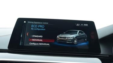 Alpina D5 S infotainment menu