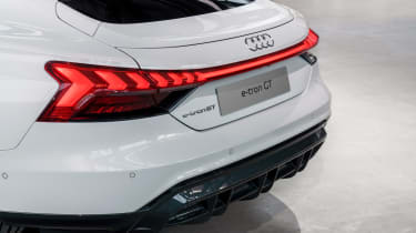 Audi e-tron GT - white rear detail