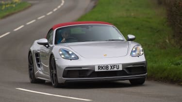 Porsche 718 Boxster GTS - front cornering