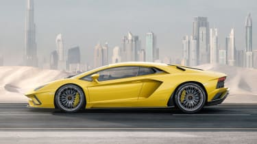 Lamborghini Aventador S - side tracking